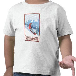 Cena do Snowboarder - padeiro da montagem, Camiseta