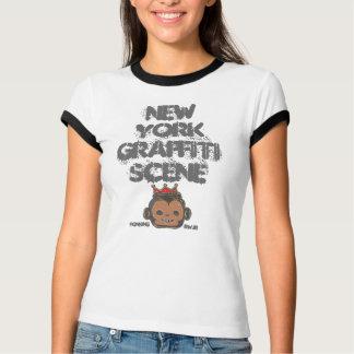 Cena dos grafites de New York Camiseta
