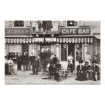 Cena francesa da rua do bar do café impressão de foto