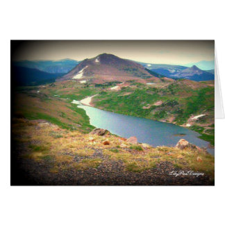 Cena Yellowstone River bonito do cartão de nota
