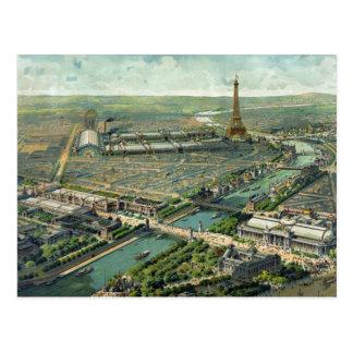 Cenário 1889 de Paris France Cartão Postal