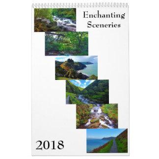 Cenários Enchanting do calendário 2018