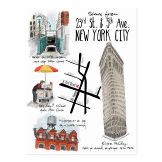 Cenas do 2ó e 5o cartão da Nova Iorque da avenida