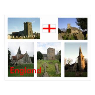 Cenas inglesas da igreja - personalizadas - cartão postal