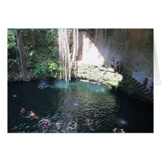 Cenote azul sagrado, Ik Kil, cartão de México #4