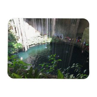 Cenote azul sagrado, Ik Kil, ímã da foto de México