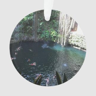 Cenote azul sagrado, Ik Kil, ornamento de México