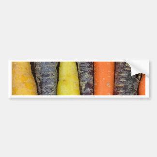 Cenouras coloridas diferentes adesivo para carro