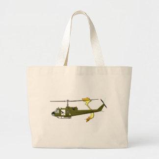 Centauro de Bell UH-1 Huey com imagem de Vietnam Sacola Tote Jumbo