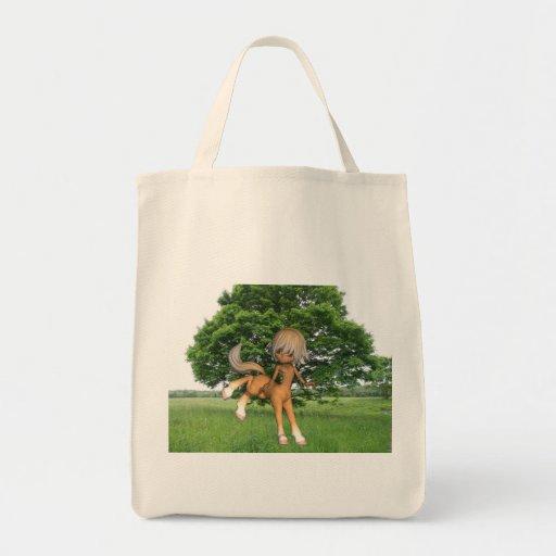 Centauro que joga o bolsa do mantimento
