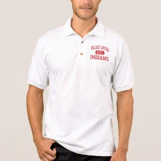 Central de Millard - indianos - meio - Omaha Camisa Polo