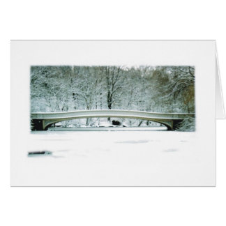 Central Park, NYC, cartão de Natal da ponte do