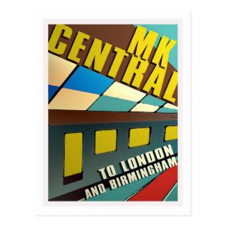 Central railway retro do MK do cartão