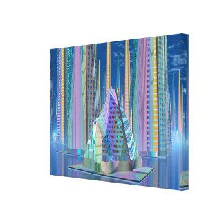 Centro da cidade estrangeiro no planeta Tamara Impressão De Canvas Envolvidas
