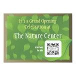 Centro da natureza do modelo do convite convite 12.7 x 17.78cm
