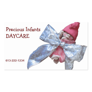 Centro de dia infantil: Bebê da argila no arco de  Cartoes De Visita