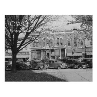 Centro do centro de Grundy, cartão de Iowa