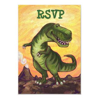 Centro RSVP do partido de Rex do tiranossauro Convite 8.89 X 12.7cm