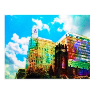 centro vibrante cartão postal