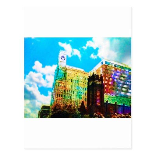 centro vibrante cartao postal