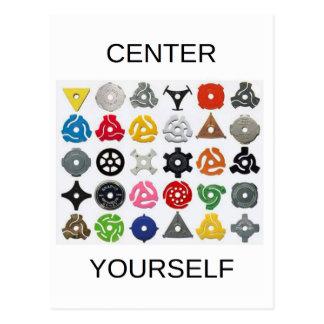 Centro você mesmo cartão postal