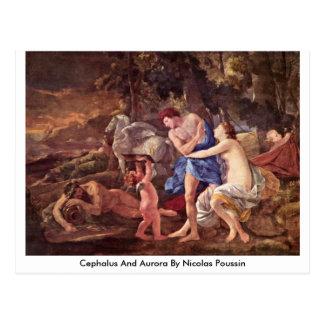 Cephalus e Aurora por Nicolas Poussin Cartão Postal