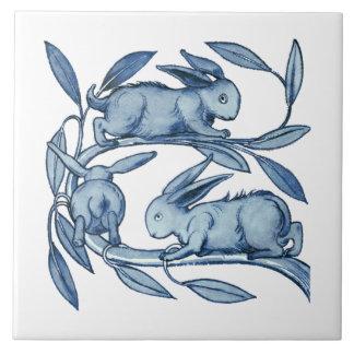 Cerâmica de William De Morgan Coelho Azulejo Quadrado Grande
