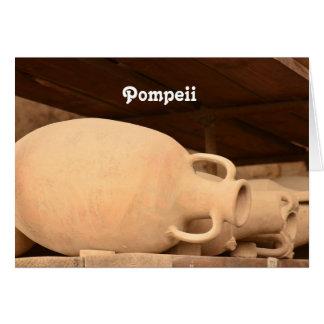 Cerâmica em Pompeii Cartão Comemorativo