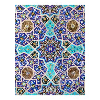 Cerâmica turca tribal étnica floral do mosaico de papel timbrado