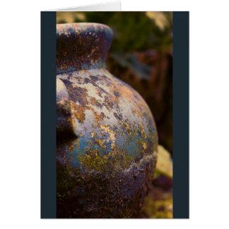 Cerâmica vestida poço cartão