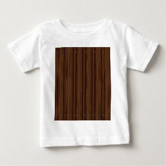 Cerca da cerca de Brown escuro Camiseta Para Bebê