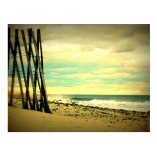 Cerca da praia de Hampton Cartão Postal