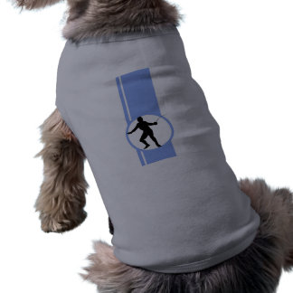 Cercando a silhueta azul roupas para cães
