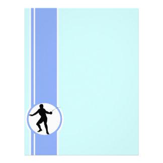 Cercando a silhueta azul papel de carta personalizados