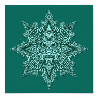Cerceta asteca da máscara de Sun Convite Personalizados