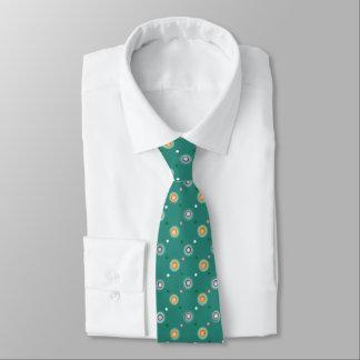 Cerceta com bolinhas alaranjadas gravata
