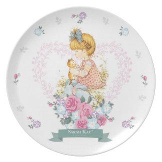 Cerceta da placa #1 da porcelana de Sarah Kay Louça De Jantar