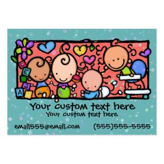 CERCETA do berçário da guarda das crianças dos beb Modelos Cartoes De Visitas
