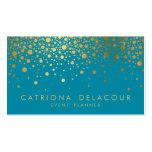 Cerceta do cartão de visita | dos confetes da