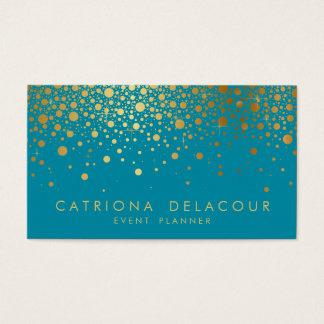 Cerceta do cartão de visita   dos confetes da