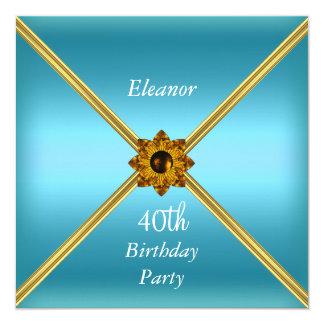 Cerceta do convite de festas do aniversário de 40