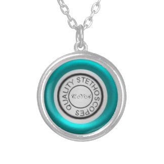 Cerceta do estetoscópio da qualidade colar banhado a prata