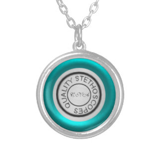 Cerceta do estetoscópio da qualidade colar com pendente redondo