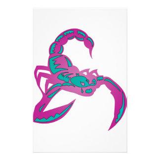 Cerceta do roxo da imagem do escorpião papelaria