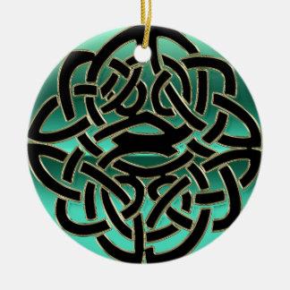 Cerceta e ornamento celta preto do nó do protetor