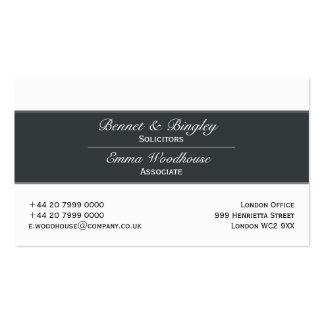 Cerceta escura branco da elegância clássica cartões de visita