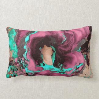 Cerceta roxa e mármore preto almofada lombar
