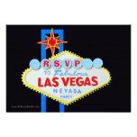 Cerco do partido RSVP do tema de Las Vegas Convite