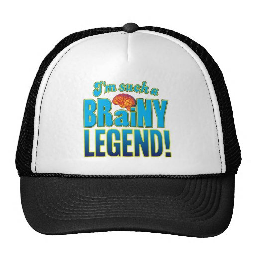 Cérebro Brainy da legenda Bonés