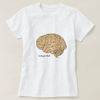 Cérebro humano: Analise isto! Tshirt